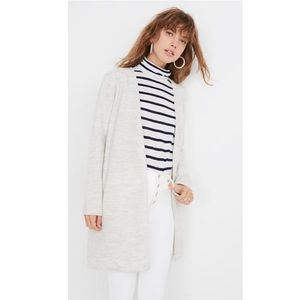 Madewell lombard boiled wool sweater coat small